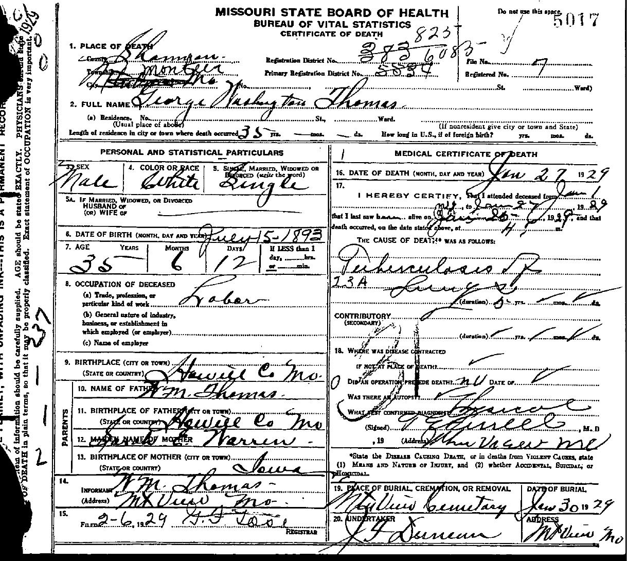 1929 death certificates index thomas george washington 02 aiddatafo Choice Image