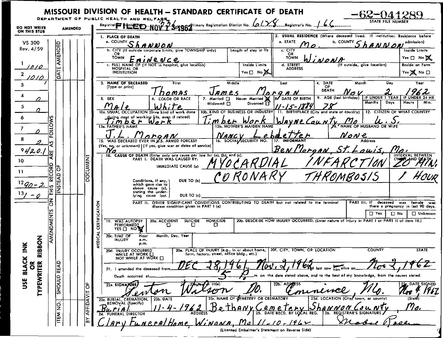 1962 death certificates index morgan thomas james xflitez Images