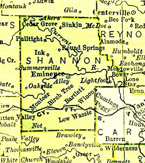 Shannon County Historic Maps